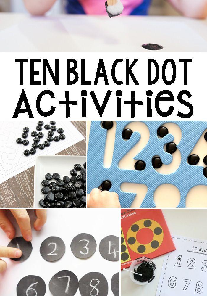 10+ Ten Black Dot Book Inspired Activities For Kids   Black dots ...