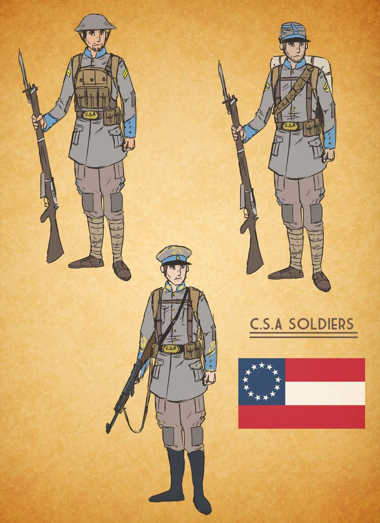 Alternate History Confederate Soldier by goeliath | Cool