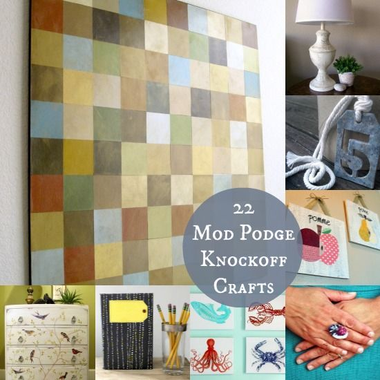 mod podge craft ideas 22 mod podge diy knock projects 4977
