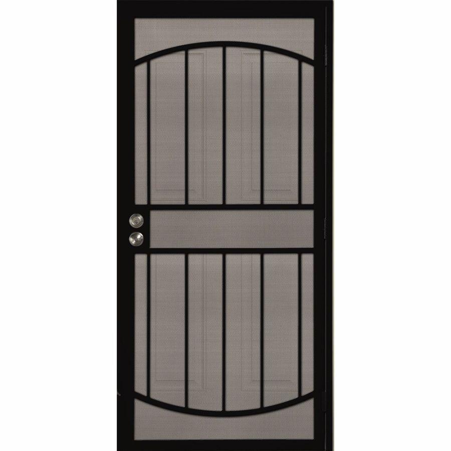 Shop Gatehouse Gibraltar Black Steel Security Door Common 32 In X 81 In Actual 35 In X 81 In
