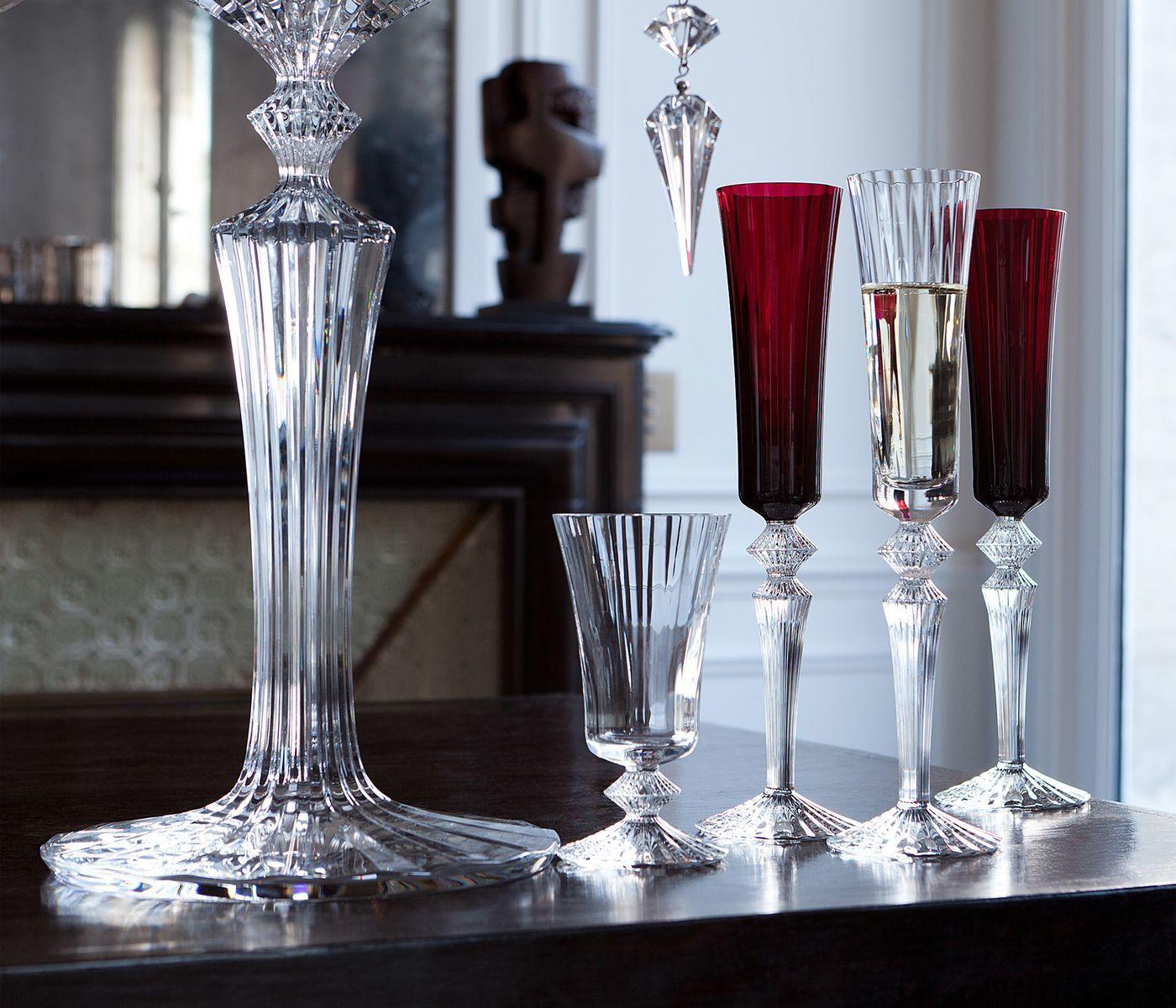 Mille Nuits Flutissimo Red Original Baccarat Champagne Flutes