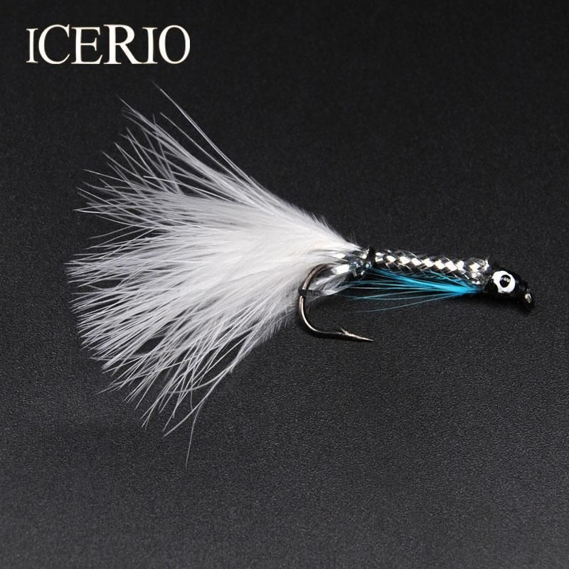 10PCS//Lot #6 Streamer Fly Minnow Bait Fish Artificial Trout Fly Fishing Lure