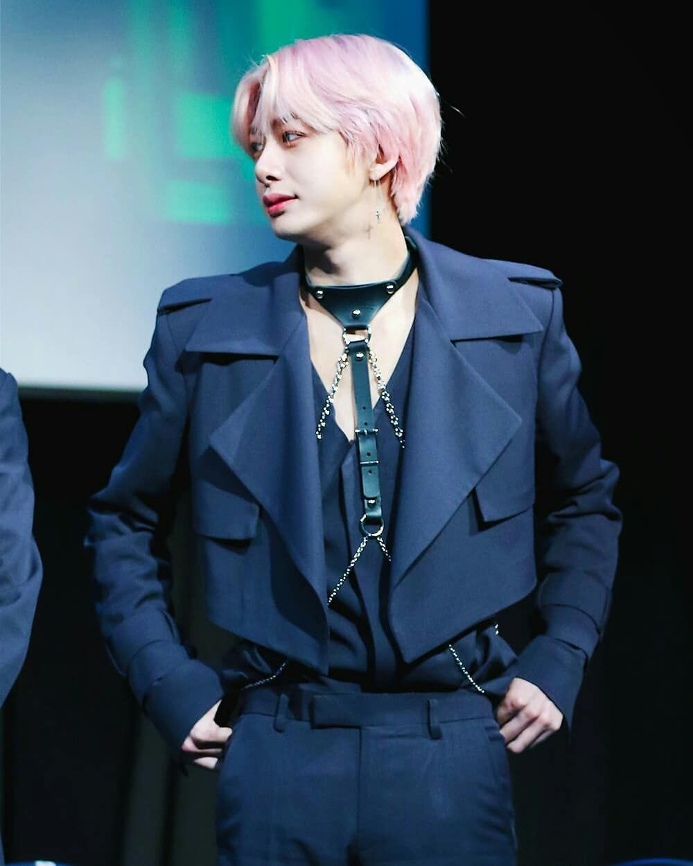 From Harness To Body Chain To Total Upgrade Istg How Many More Mx Stylist Have In Their Stash Im Curious Monsta X Hyungwon Monsta X Hyungwon