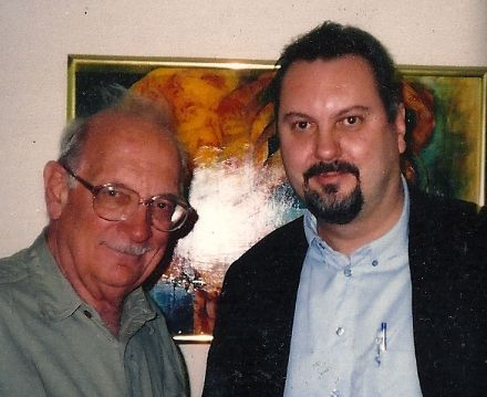 American composer George Crumb and Andi Spicer in Potchefstroom, South Africa at a composition workshop.