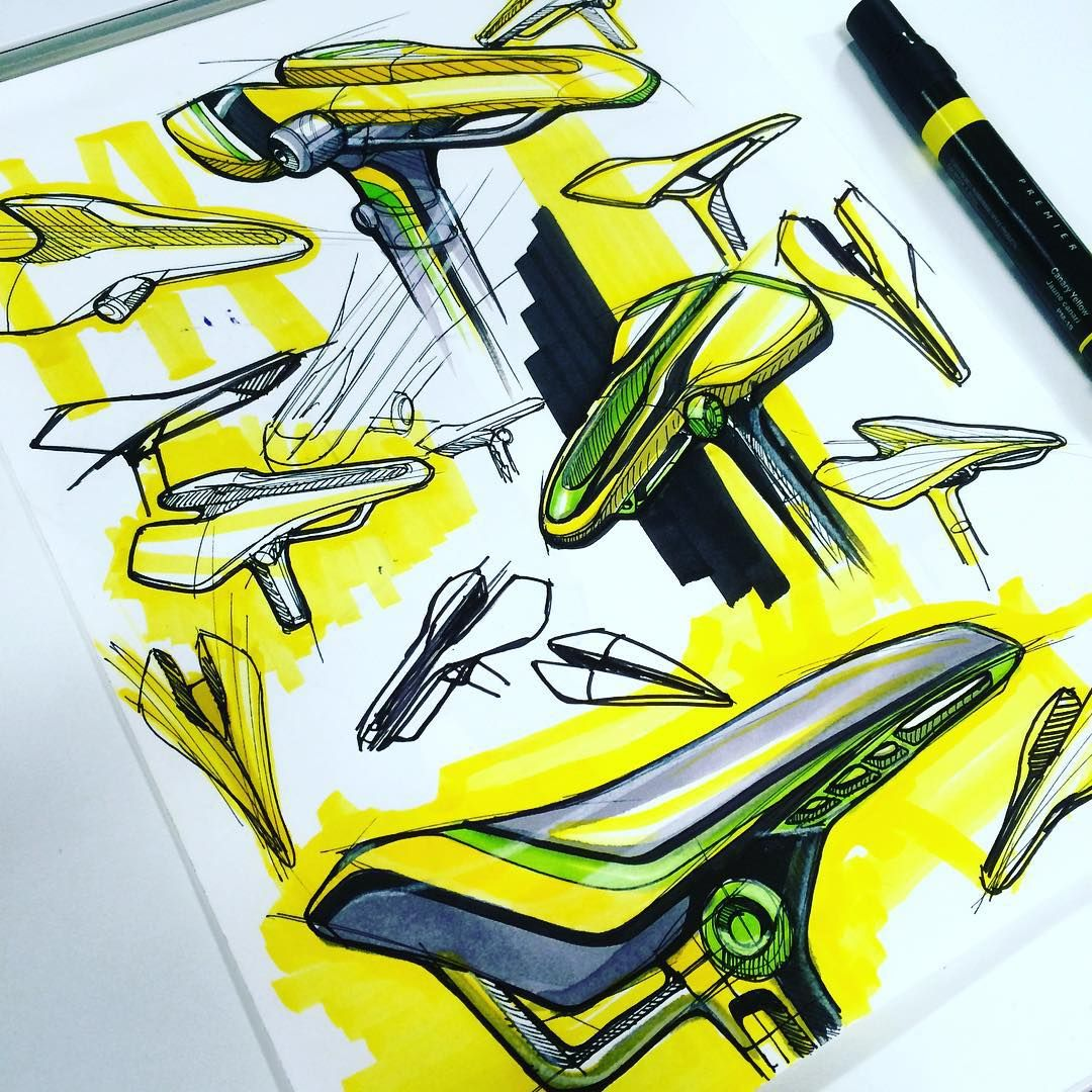 Bike sketch page #industrialdesign #id #design #sketch #sketchzone #art #bike #monday
