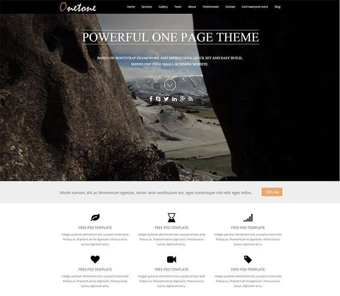 Onetone - free responsive business theme | homepage | Pinterest ...