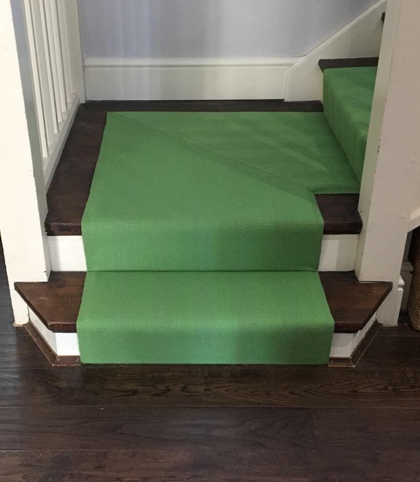 Roger Oates New Hadley Lime Stair Runner Carpet With