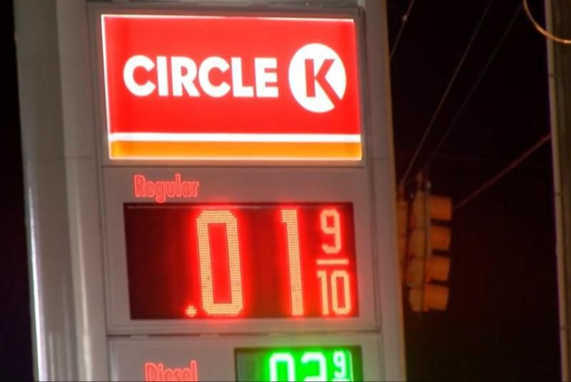 Computer Glitch Drops Gas Price To 1 Cent Gas Prices Gas Neon Signs
