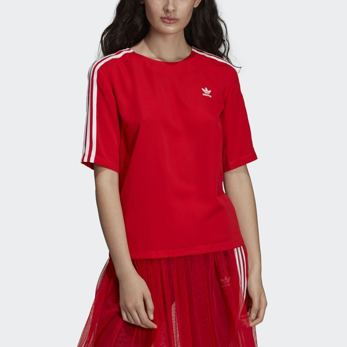 bfd4c89999624 3-Stripes Tee Red XS,S,M,L,XL Womens in 2019 | Products | Striped ...