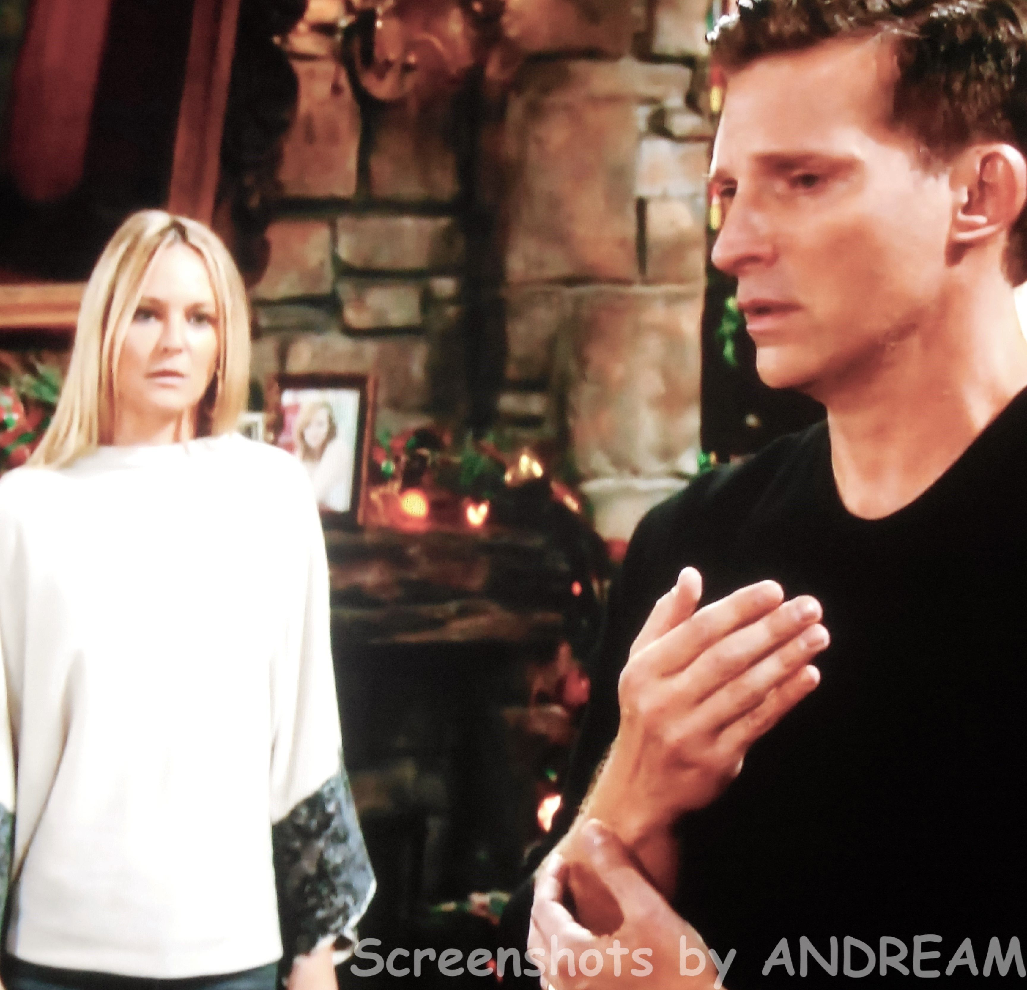 Sharon sees Dylan pretending he has Christian in his arms.