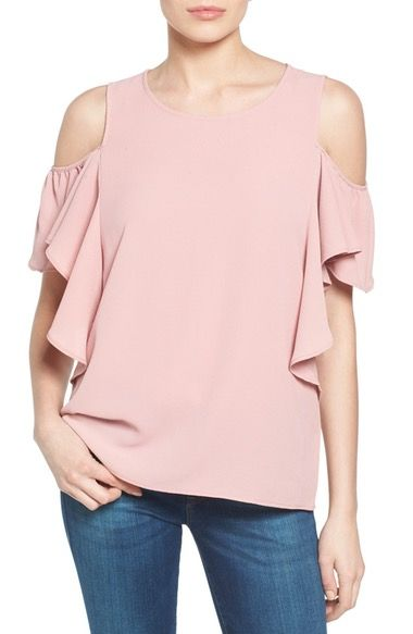 50df63a7db59c Bobeau Cold Shoulder Ruffle Sleeve Top available at  Nordstrom