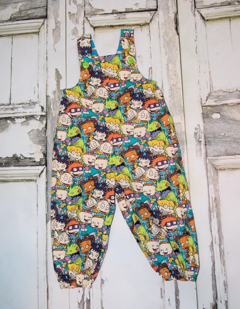 9fb32315ae1 Rugrats Overalls Unisex Boys Girls Baby size Newborn 0 3 6 12 18 24 months  Twins Baby shower gift Nickelodeon Nick Jr. Retro 90 s Throwback Jon Jon  Romper