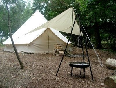 Soulpad 5m Canvas Bell Tent With Malu Awning