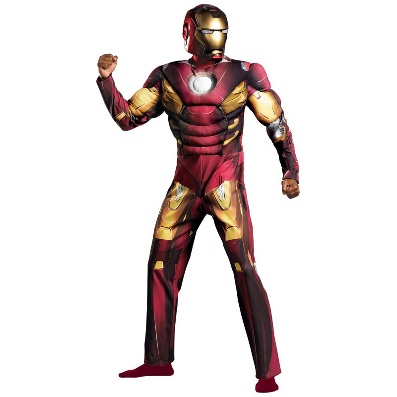 Iron Man Costume With Muscles For Adult Halloween Marvel Cosplay //Price $79.99 u0026  sc 1 st  Pinterest & Iron Man Costume With Muscles For Adult Halloween Marvel Cosplay ...