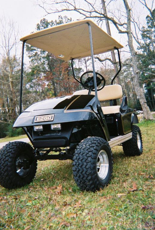 I love lifted golf carts 5 lift kit 10 aluminum rims and 22 i love lifted golf carts 5 lift kit 10 aluminum rims and 22 tires this golf cart has a new body black with gold pinstripe and diamond plat solutioingenieria Images
