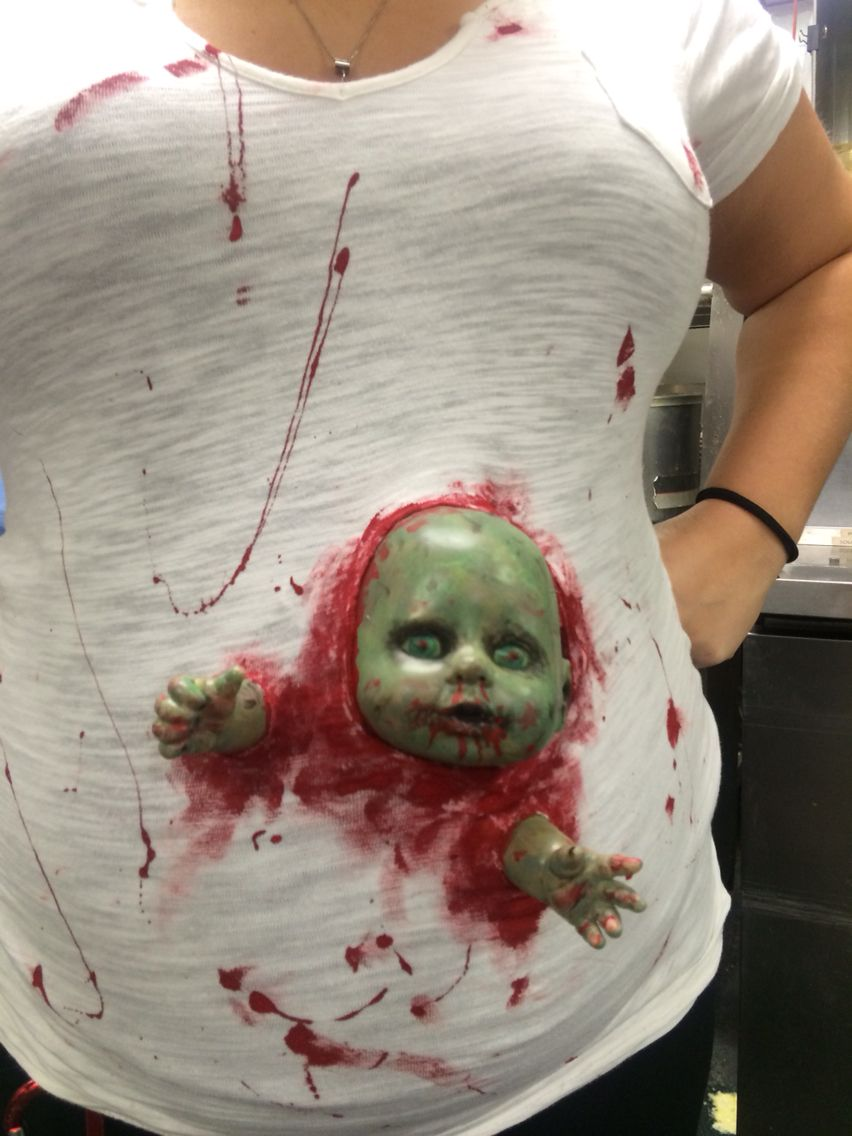 Zombie Baby Belly For Halloween Pregnant Halloween Costumes Pregnant Halloween Halloween Customes