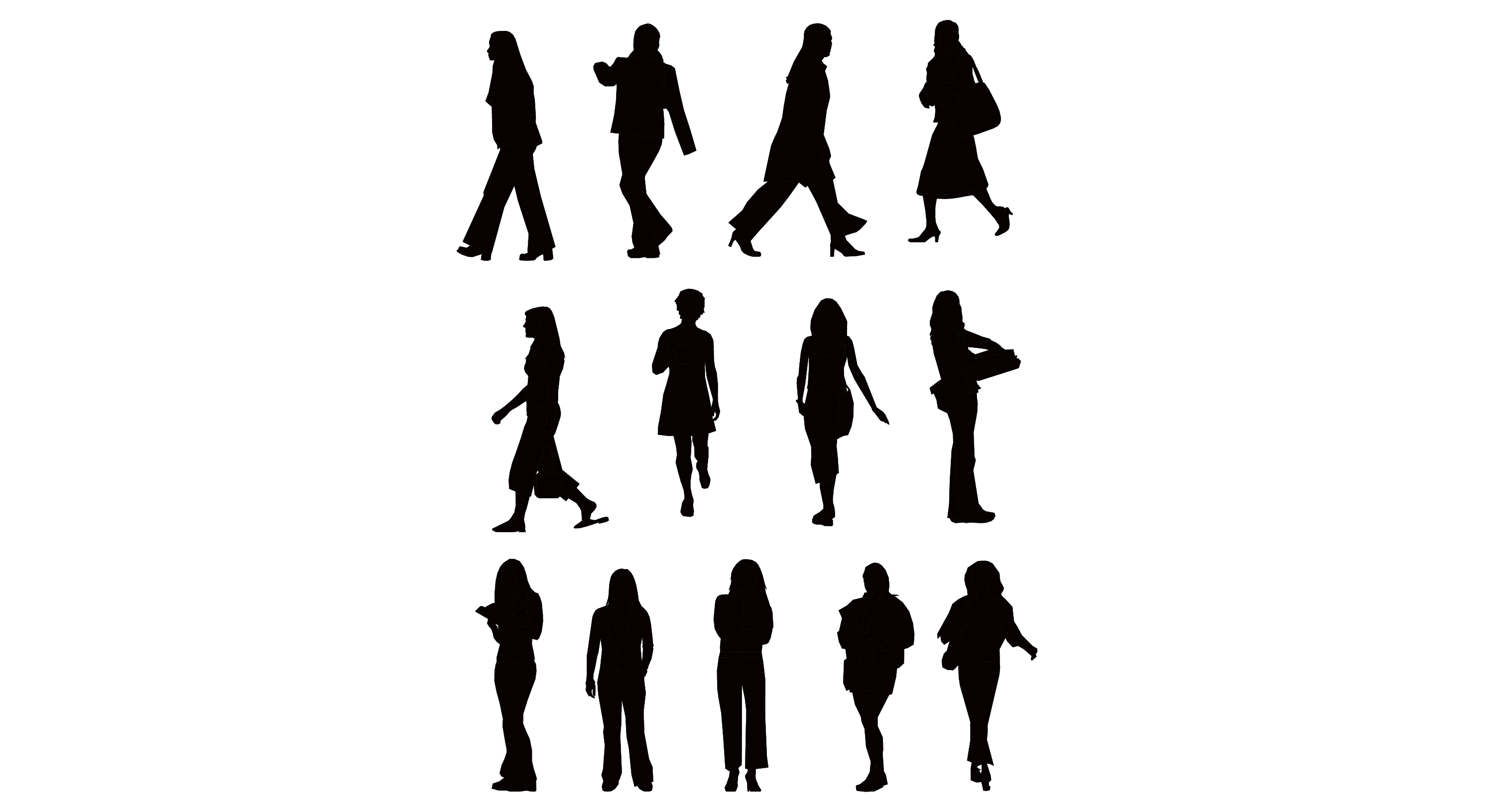 Pin by Nutthanicha on ขนาด | Pinterest for Business People Silhouette Png  585hul