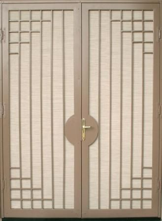 Security screen doors for double entry patio arcadia or for Security screen doors for french doors