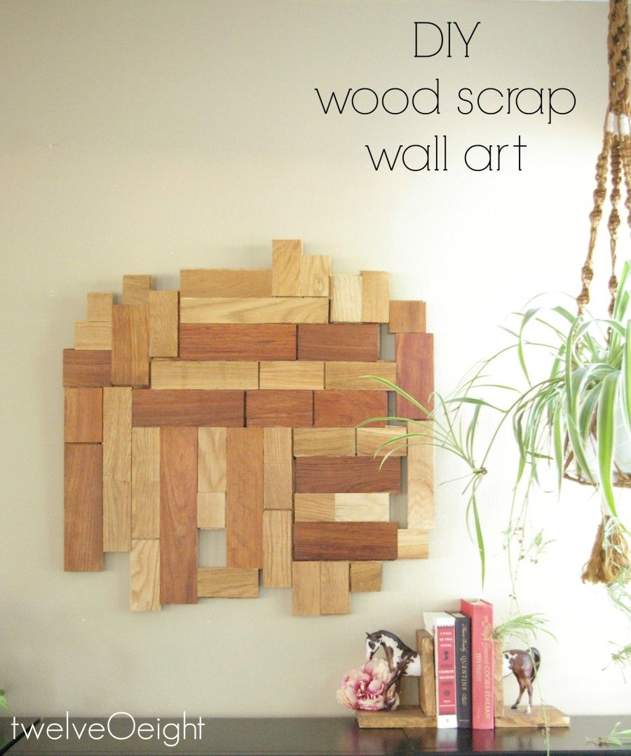wood scrap wall art project #diy #wood #upcycle #recycle