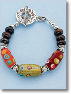 Controlled Chaos  Here's a too-cute bracelet that's easy to make with just two steps.