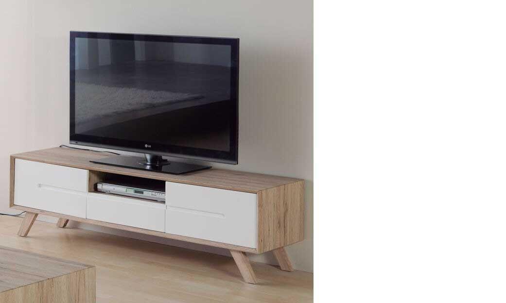 Juste Meuble Tv Suspendu Blanc Laque Bois En 2020 Meuble Tv Bois Meuble Tv Suspendu Meuble Tv