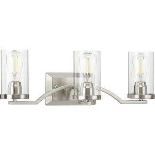 Photo of Lassiter Collection Brushed Nickel Three-Light Bath (60 W – 3 Lights), Progress Lighting