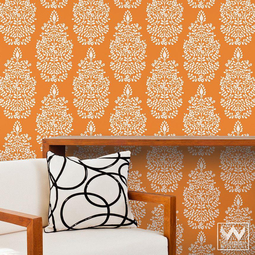 Persian Garden Damask Removable Wallpaper Good Looking