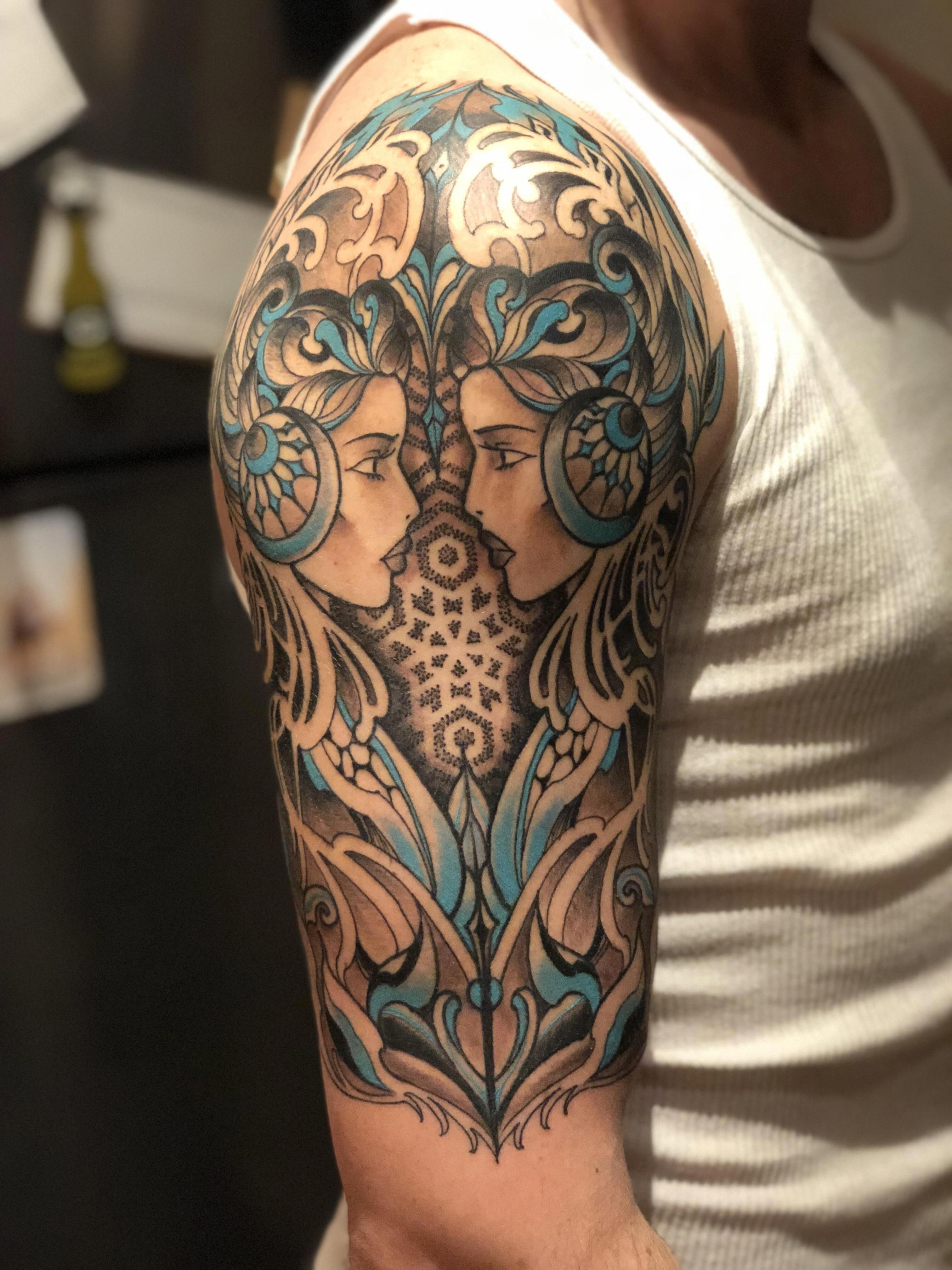 best half sleeve tattoos ever Halfsleevetattoos Gemini