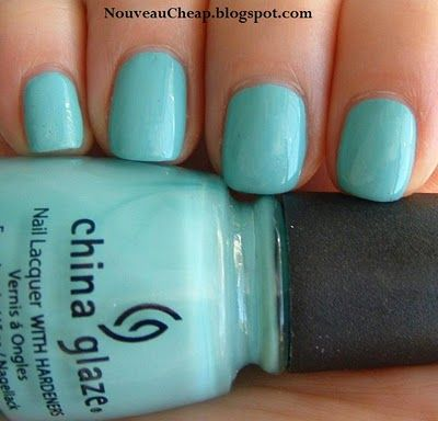 Curly On My Nails China Glaze For Audrey This Is Favorite Nail Polish Of All Time The Formula Fantastic And Very Close To Tiffany Blue