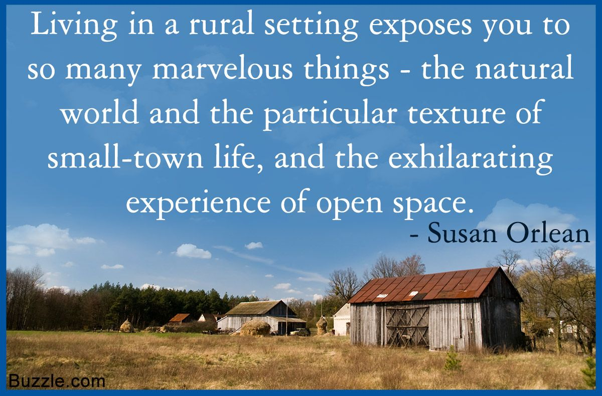 Urban Vs Rural Living Which Is More Fulfilling In Today S World Rural Living Rural Living Quotes Rural Life