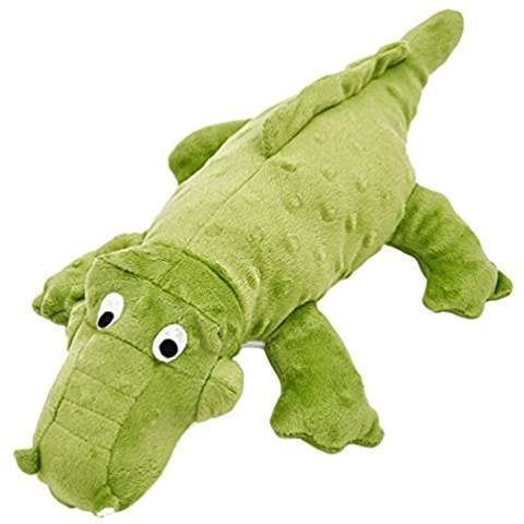 Squeaky Crocodile Dog Toy Durable Cute Plush Squeak And Crinkle