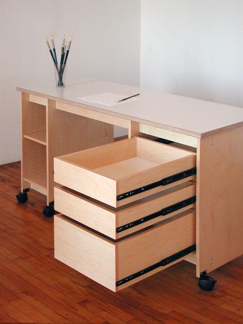 Artist Desk Has Drawers Shelves For, Art Desk With Storage