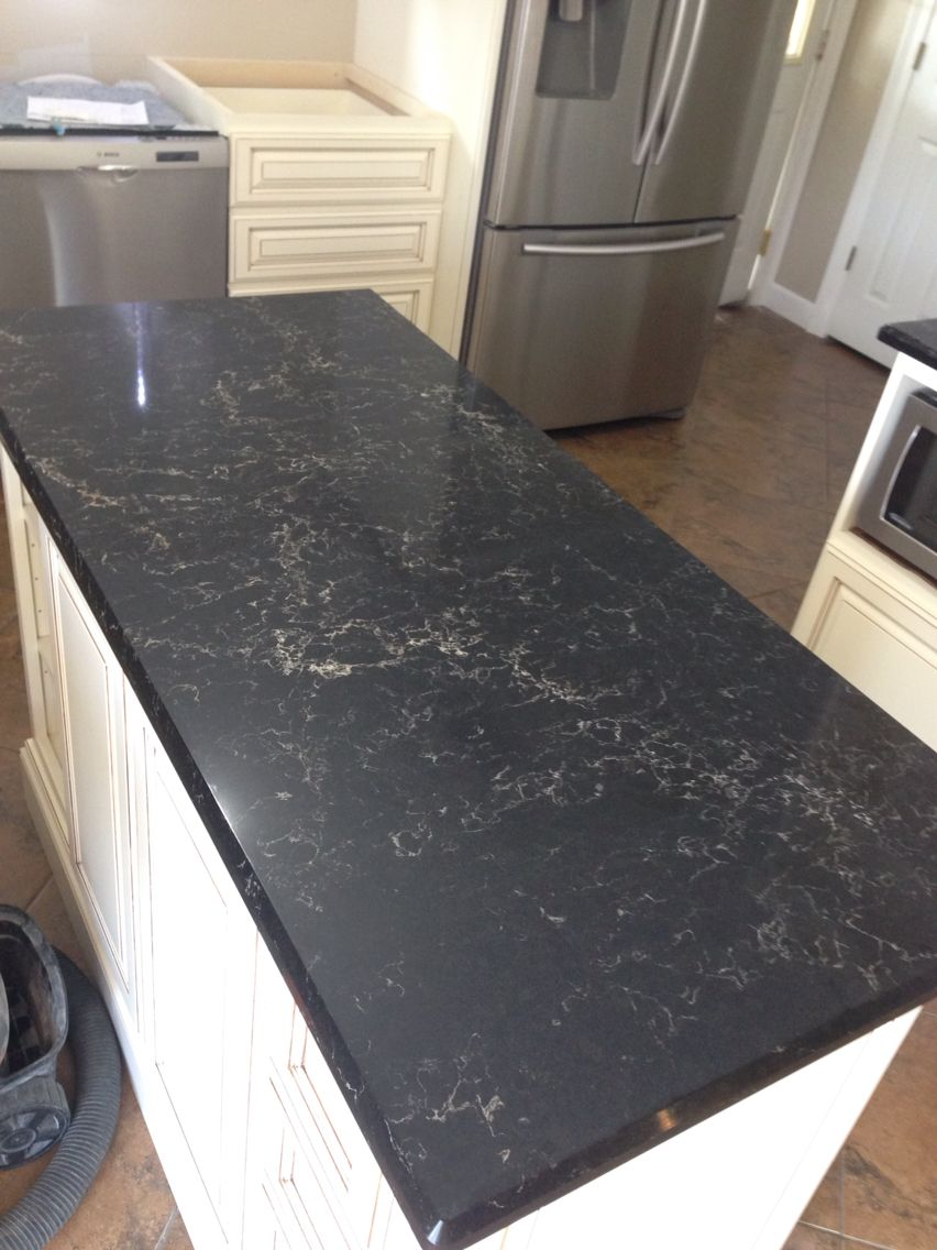 Caesarstone Vanilla Noire Absolutely Beautiful Black Kitchen Countertops Black Granite Countertops Kitchen Countertops