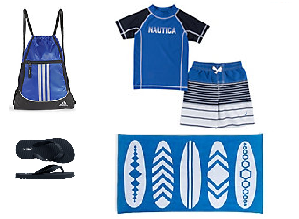 Boy Swim Bundle (Size 4) - Blue/Stripes