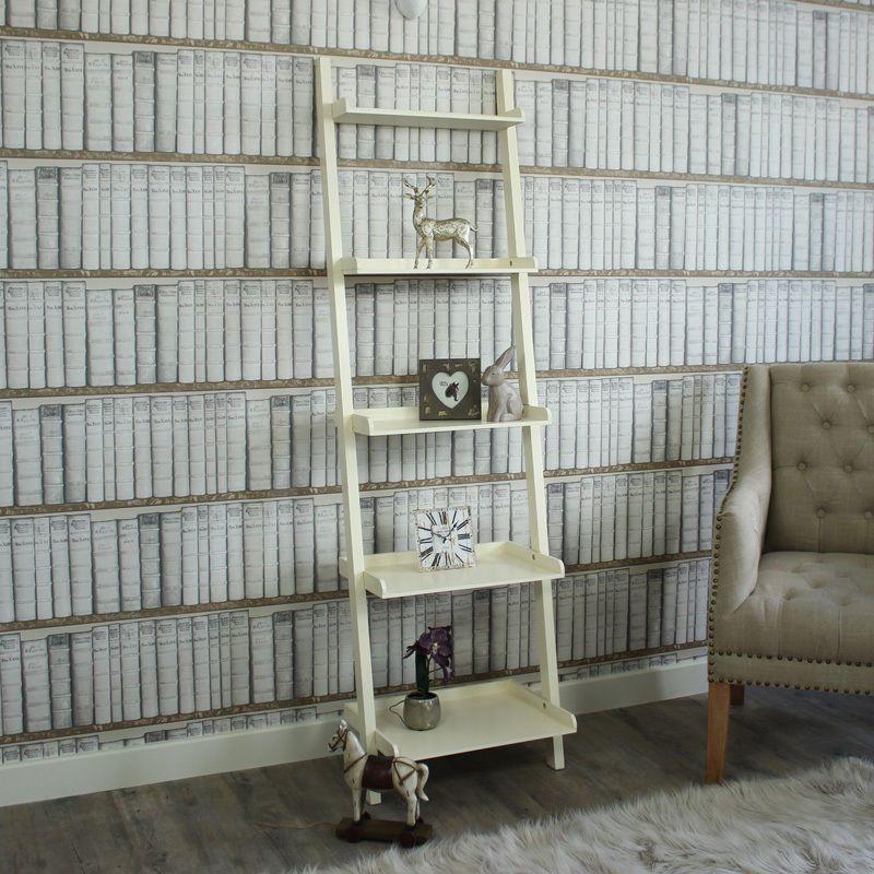 Modern Bookcase Leaning Bookcase Ladder Shelf Mid Century Bookshelf Ladder Shelves Bathroom Shelves Bathroom Ladder Shelf In 2020 Leaning Bookcase Modern Bookcase Bookshelves Diy