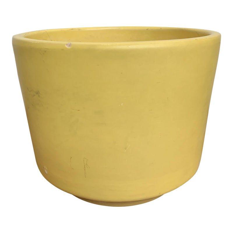 Vintage Mid Century Gainey Ceramics Yellow Matte Planter Pot C 8 Planter Pots Planters White Ceramic Planter