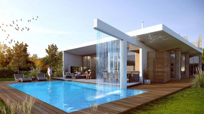 Maison Design Avec Piscine Fontaine Architecture Villas And House