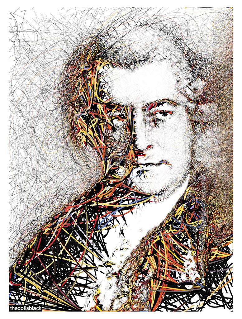 Johann Sebastian Bach Generative Portrait In 2020 Classical Music Composers Music Composers Portrait
