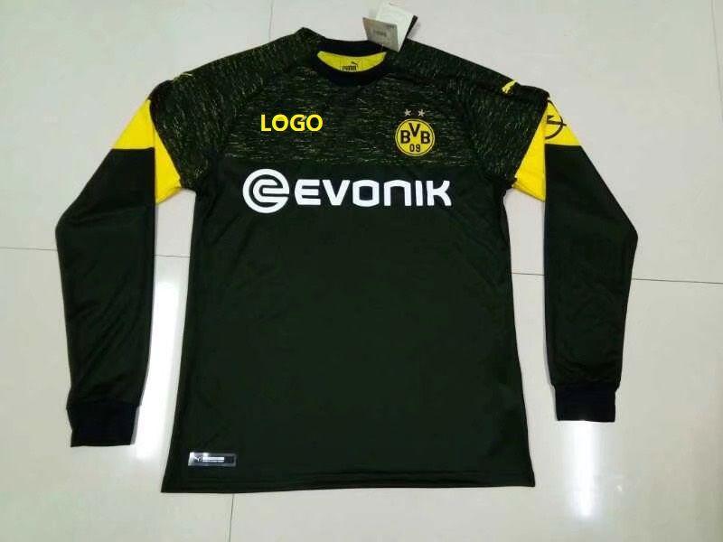 37480314cf9 2018/19 Thai Quality Adult Borussia Dortmund black away long sleeve Soccer  Jersey Men Football Shirt