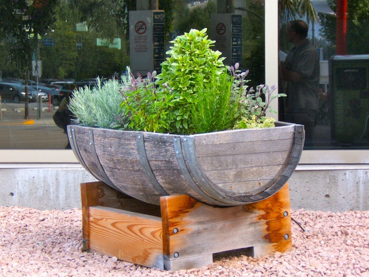 The 1 Pot Herb Garden is part of Large garden Patio - If you don't have a large garden, grow your herbs in pots  Use large pots and grow like minded herbs together to save even more space  Potted herbs are great for small spaces