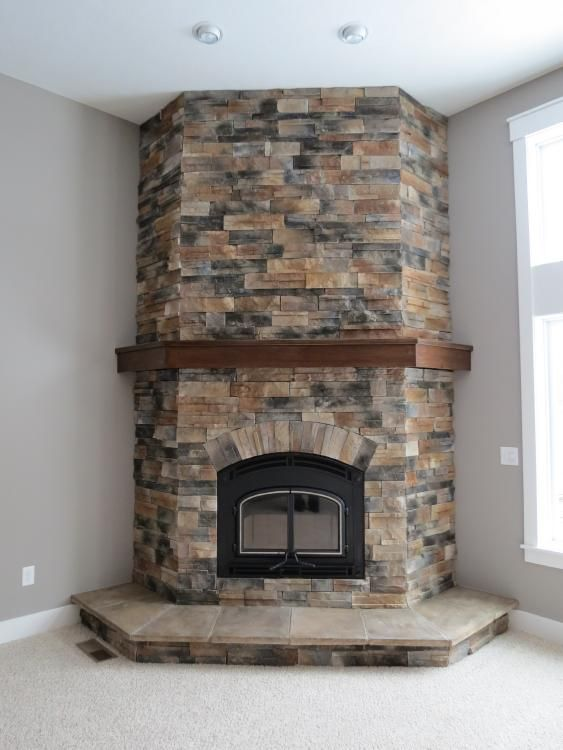 Check Out This Picture With Images Corner Stone Fireplace