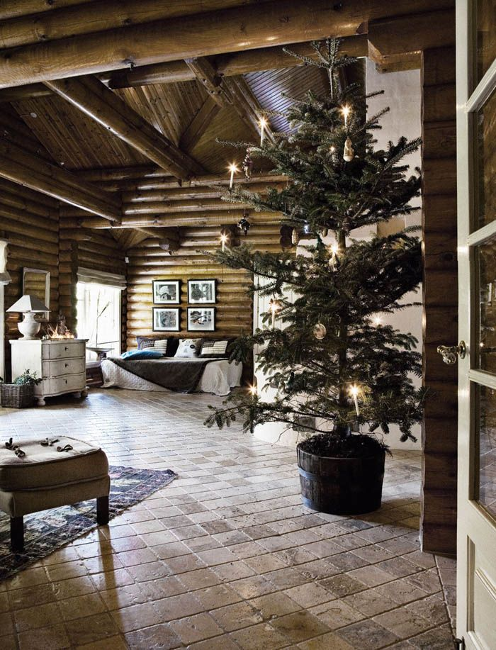 Decoracion navidad casa de campo nordica navidad for Decoracion de casas antiguas