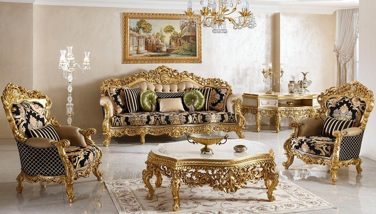 Baroque Sitting Room In 2020 Royal Furniture Luxury Home Furniture Luxury Sofa #versace #living #room #set