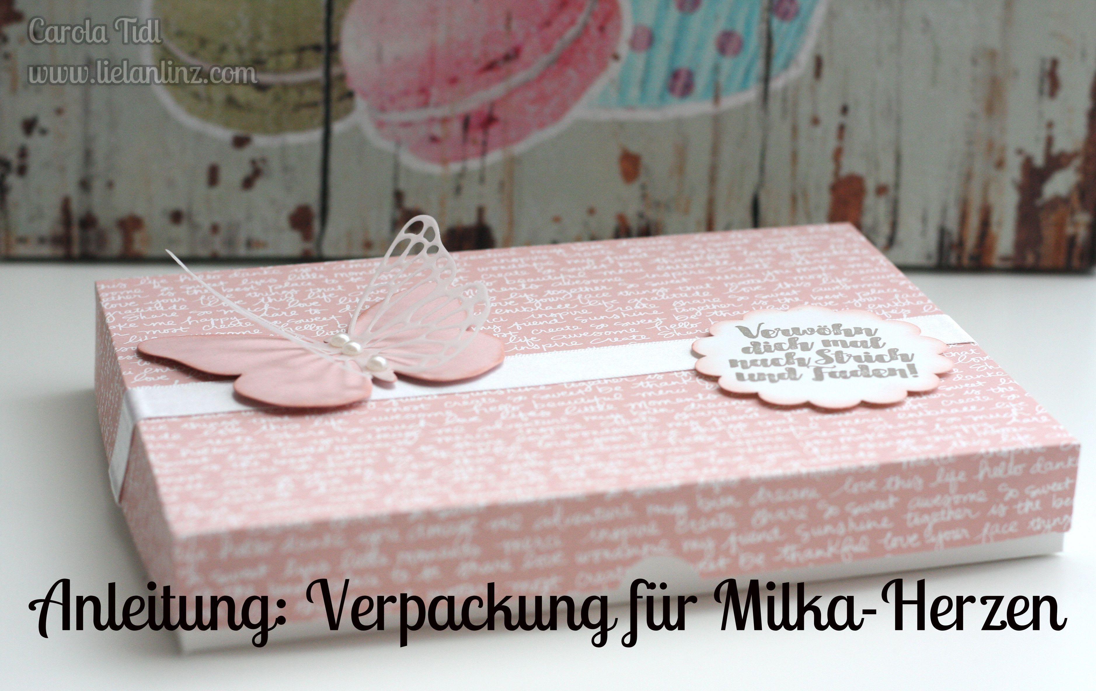 anleitung verpackung für milka herzen  stampin' up