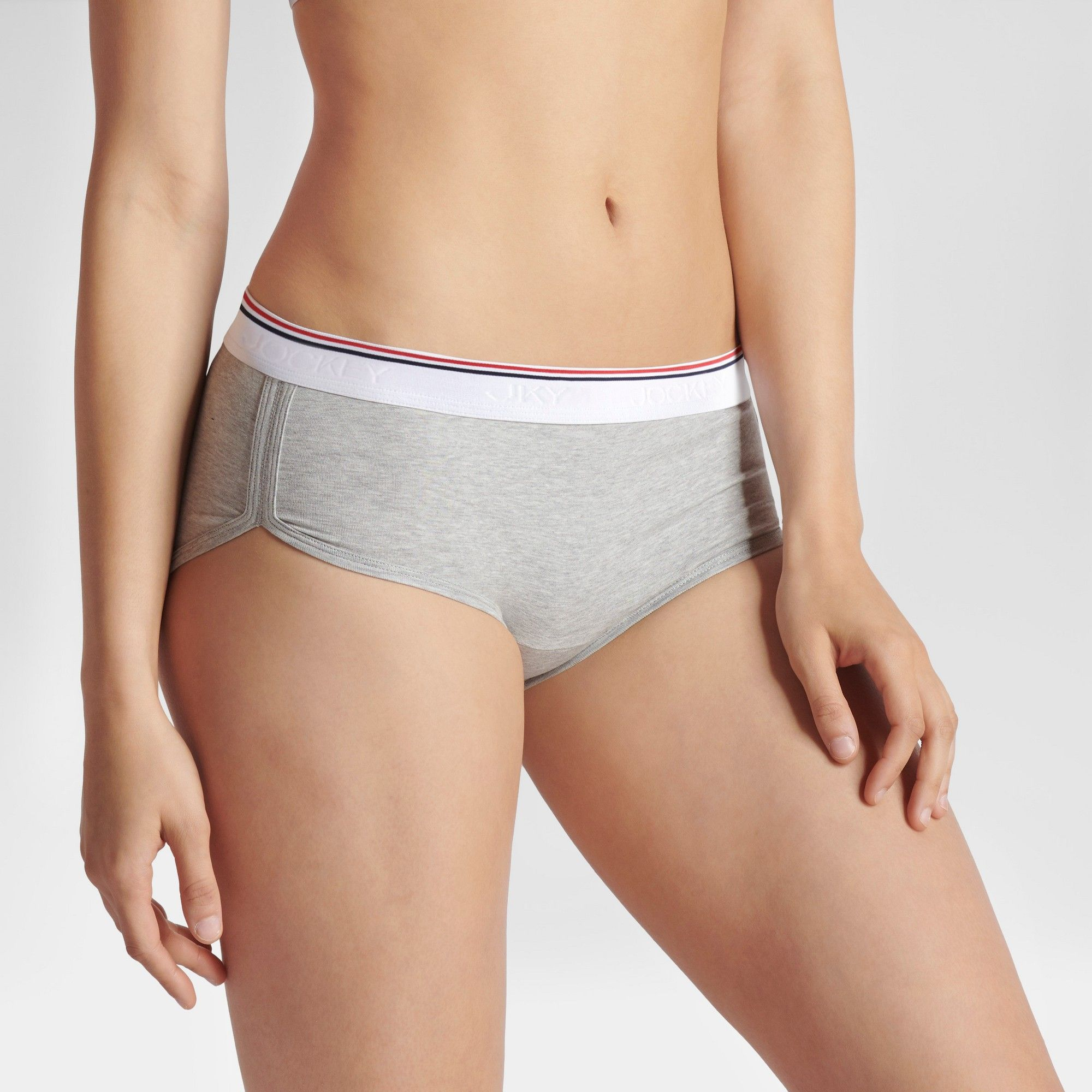 ff84c628301b JKY by Jockey Women's Striped Retro Vibes Girl Shorts - Gray XL ...