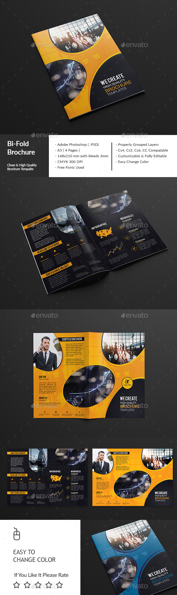 A5 Flyer Photoshop Template Ibovnathandedecker