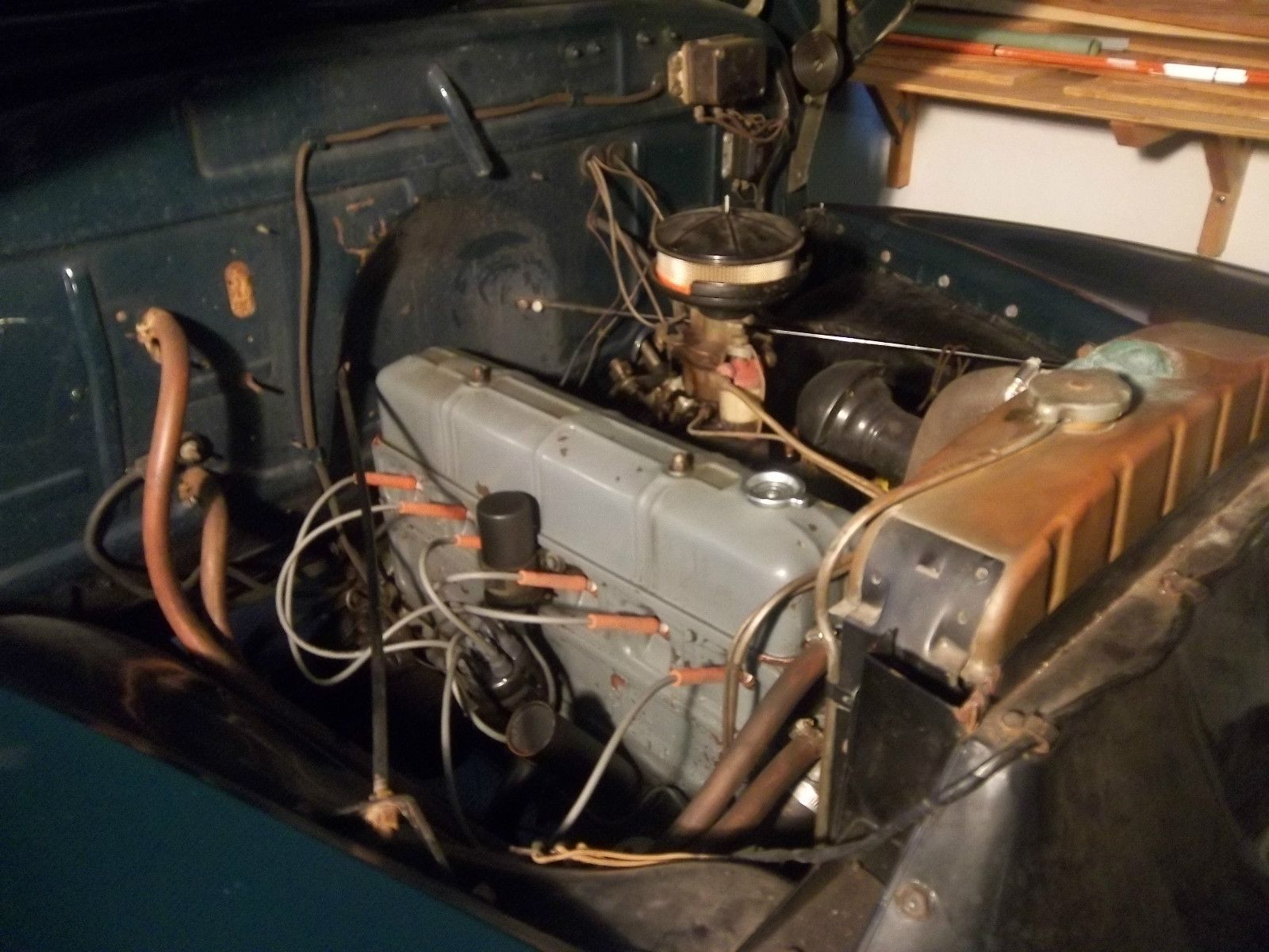 Old Pickup Engine Compartment : Engine compartment old trucks pinterest