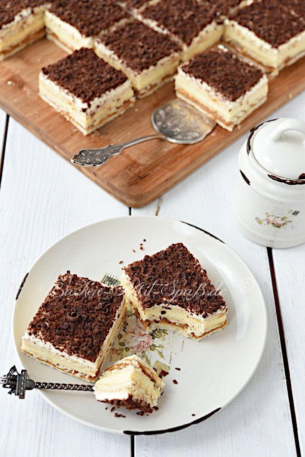 Butterkeks Karamell Cremeschnitten Rezept In 2020 Kuchen Und Torten Rezepte Kuchen Und Torten Butterkekse