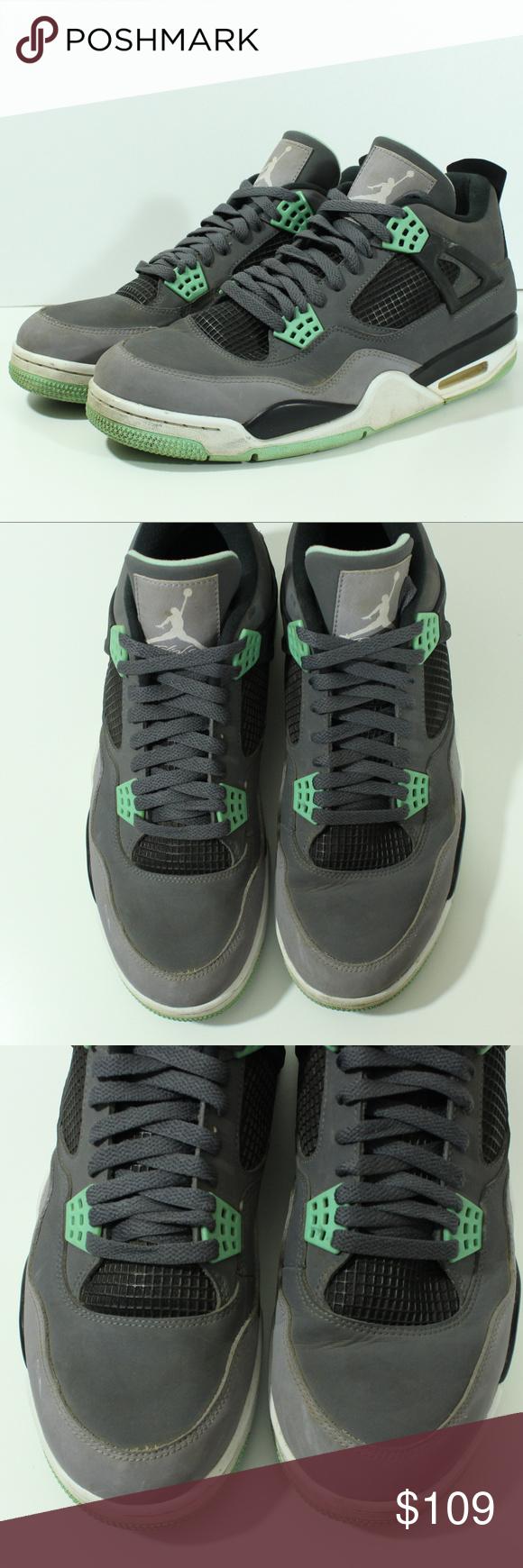 611390d40644 Nike Air Jordan Retro Green Glow IV 4 308497-033 100% Authentic Nike Air