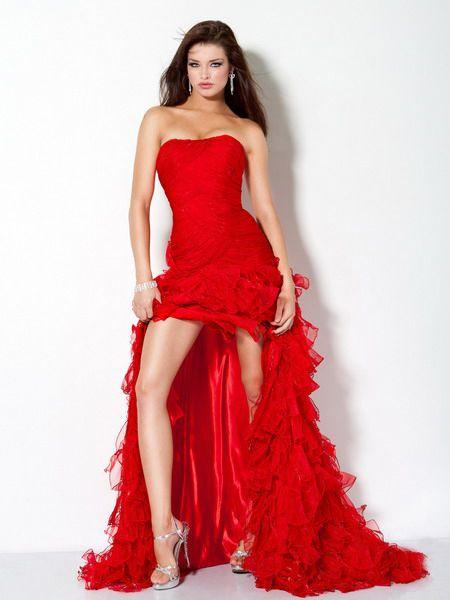 Red Chiffon Jovani